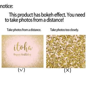 Image 4 - خلفية صور من Allenjoy صور بورتريه وردية ذهبية ورمال الذكرى السنوية لأعياد الميلاد بودا براقة مخصصة صور خلفية photophone