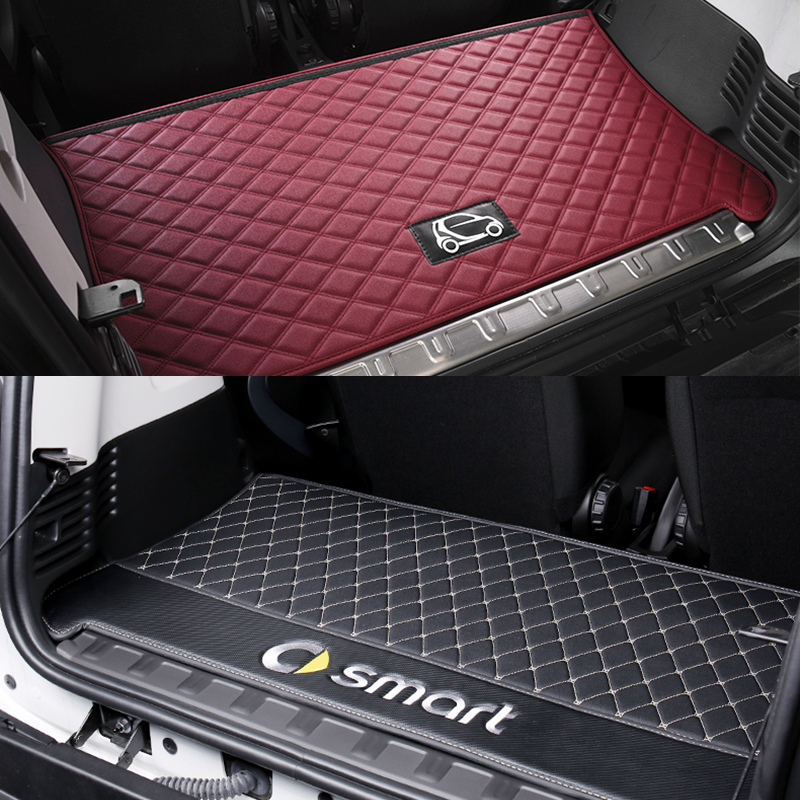 Deng yao Good Quality leather material Car rear mat trunk for smart 451 fortwo smart 453 fortwo|  - title=