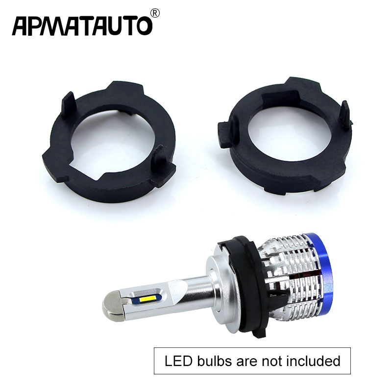 2pcs H7 LED Headlight Bulb Holder Adapter Lamp Base For VW Polo Lavida Lamando Touran Tiguan For Skoda Octavia