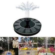 Водяной мини фонтан на солнечной батарее садовый бассейн пруд