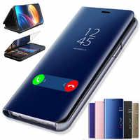 Miroir intelligent Flip étui pour samsung Galaxy S10e S10 Lite S8 S9 Plus S7 bord Note 9 8 J7 J5 J3 A3 A5 A7 2017 J4 J8 J6 A6 A8 2018