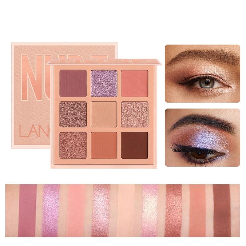 Korea Cosmetic Matte Eye Shadow 9 Colors Make Up Set Nudes Pallete Eyeshadow Palette Wholesale Fashionable Shimmer Eyeshadow