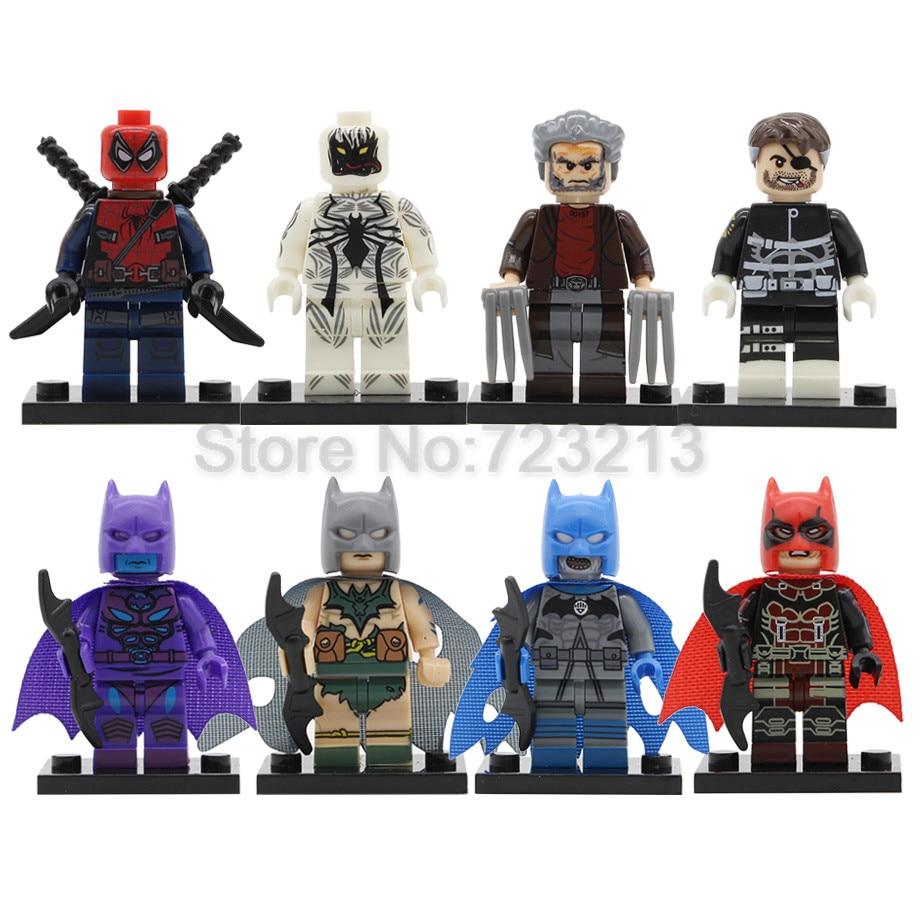 Single Super Hero Spiderpool Jerome Savage Black Lantern Batman Wolverine Punisher Building Blocks Models Bricks Toys Legoing