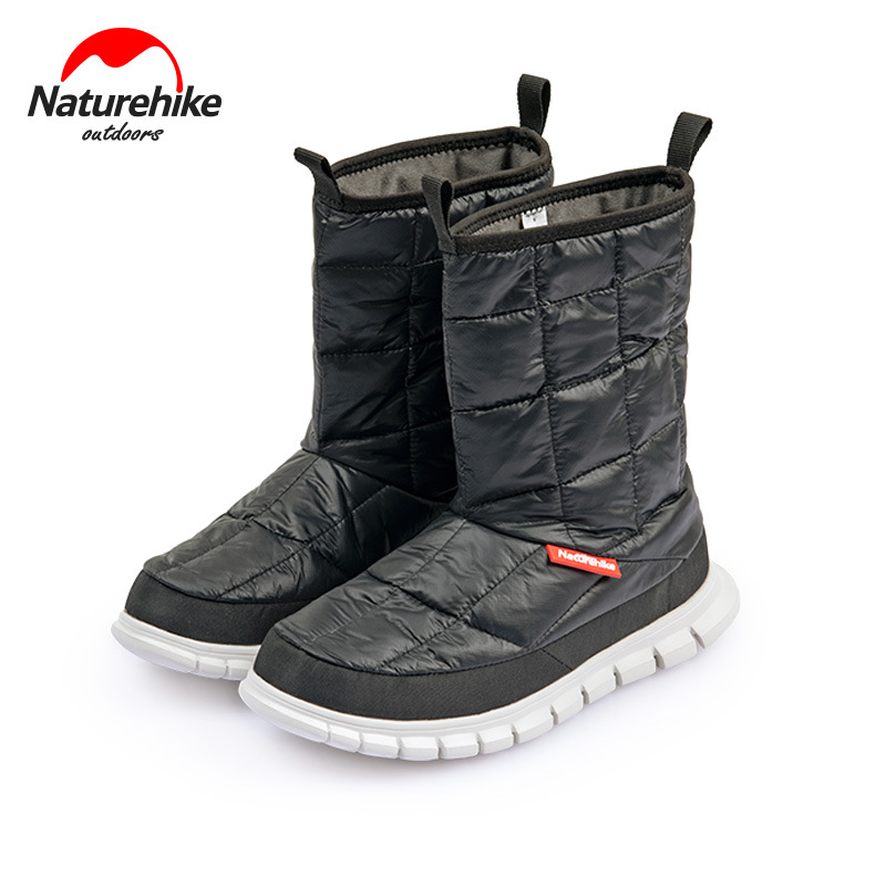 Naturehike Outdoor Warm Insulation Goose Down Base Camp Boots 95% White Goose Down Shoes Hiking Snowfield Windproof Shoes