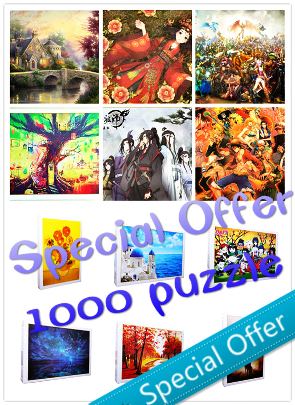 Original Packaging 1000 Pieces Adult Puzzle Kids Jigsaw Landscape Educational Toys For Children Animation Pairing Puzzles Gift