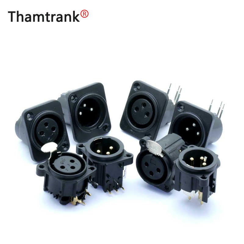 Штепсельная Вилка XLR и гнездо 3 pin штепсельная вилка XLR и гнездо панель шасси для стоек 3 контакта квадратной формы XLR разъем адаптера