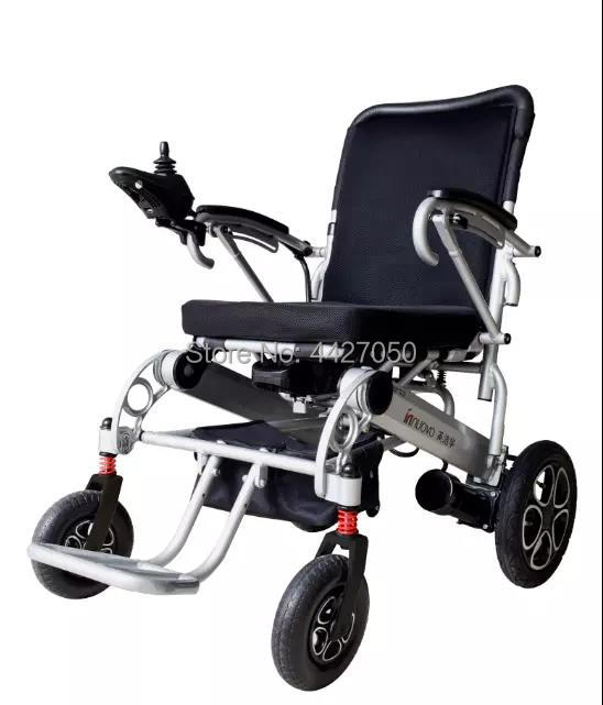 Aluminium Alloy Lightweight Folding Power Electric Wheelchair With Lithium Battery