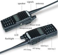 "baofeng uv Baofeng מכשיר הקשר UV-82 Ham Dual-Band 136-174 / 400-520 MHz FM 8 וואט סוללה 2800mAh שני Waterproof רדיו דרך, מקמ""ש (4)"