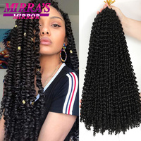 Passion Twist Hair 18/24 Inch Water Wave Synthetic Braids for Passion Twist Crochet Braiding Hair Goddess Locs Hair Extensions