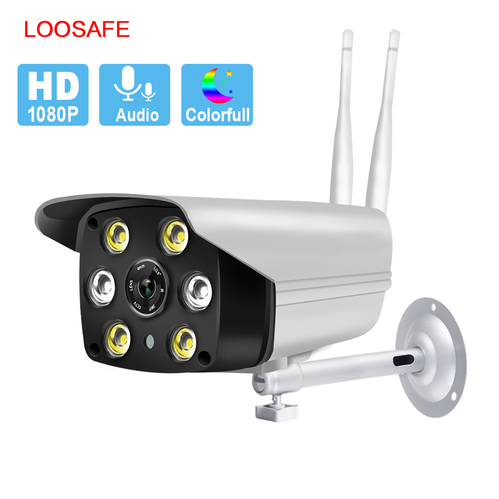 LOOSAFE 3.0/2.0MP HD Outdoor Wifi Onvif  Home Security Camera Surveillance Wi Fi Bullet Waterproof  Infrared Night Vision Cam