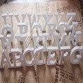 Деревянные деревянные буквы, Белый Алфавит, украшения для свадьбы, дня рождения, дома