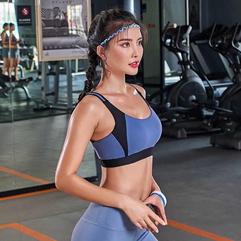 Gym Bra Wanita Push Up Bra Olahraga Dampak Tinggi Ukuran untuk Kebugaran Menjalankan Latihan Tops Olahraga Rompi Pakai Activewear