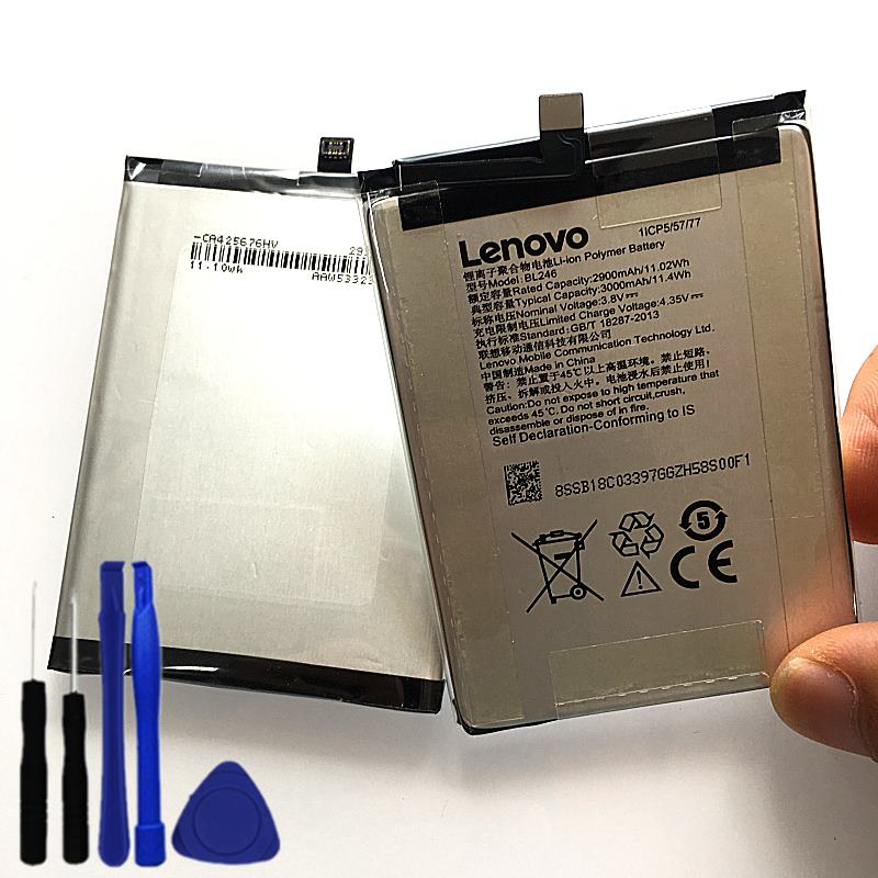 100% New Original Real 3000mAh BL246 Battery For Lenovo VIBE Shot Z90 Z90-7 Z90-3 Z90a40 Battery