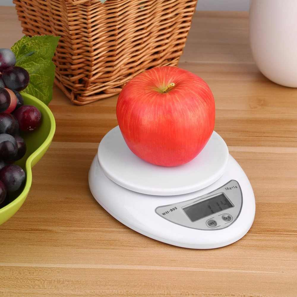 5Kg/1g LCD Display Digital Kitchen Scale Electronic Weight Balance Food Diet Kitchen Scales Measuring Weight Drop shipping
