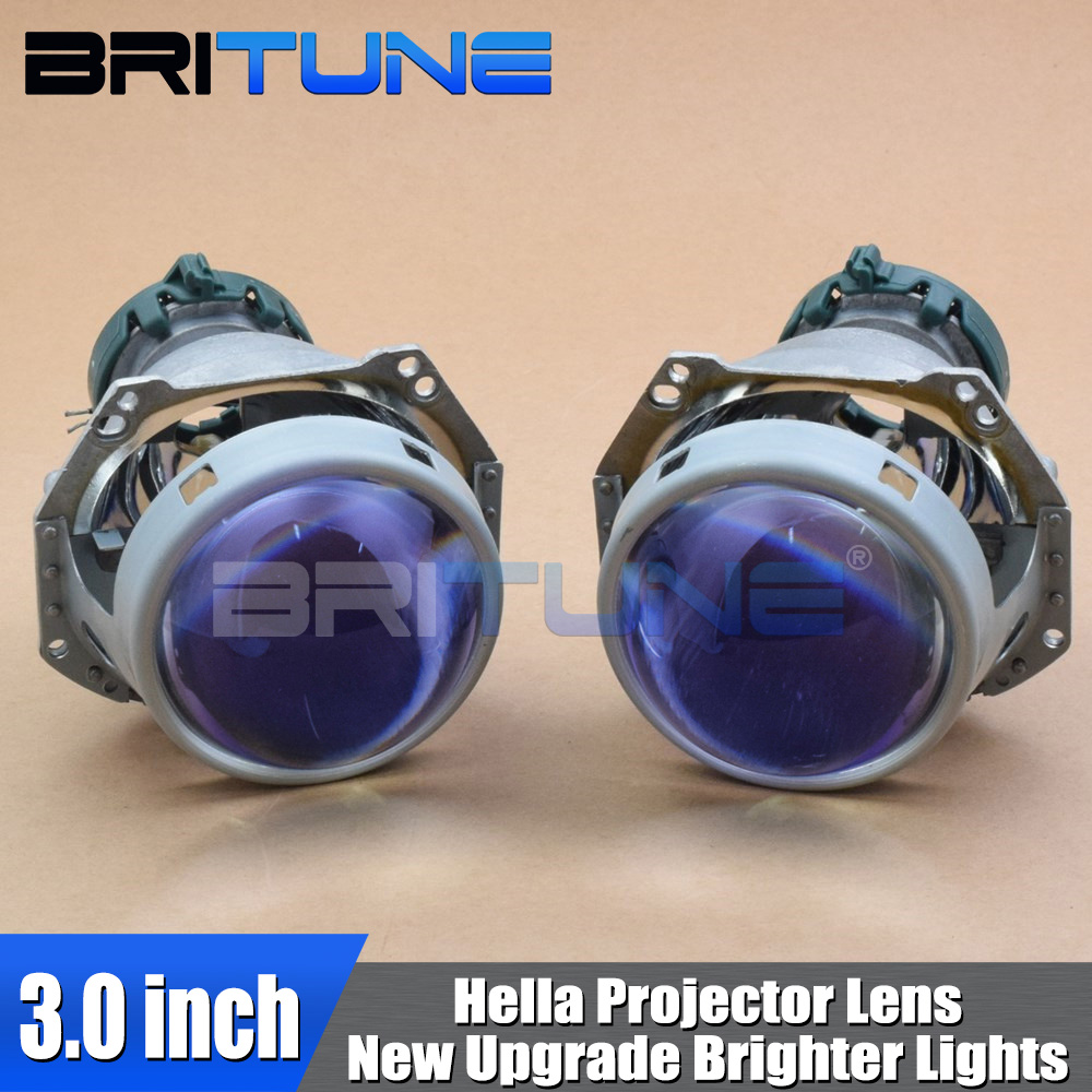 Headlight Lenses Bi-xenon HID Projector For Hella 5 3R G5 Upgrade 3.0 Blue Lens Retrofit Accessories Use D1 D2 D3 D4 Xenon Bulb