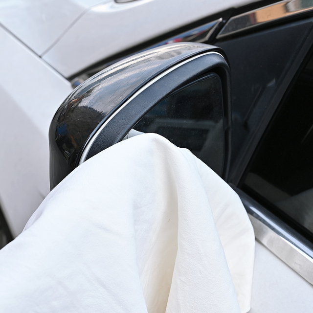 Car Towel Natural Chamois Leather Car Cleaning Cloth Genuine Leather Wash Suede Absorbent Quick Dry Towel Streak Free Lint 1