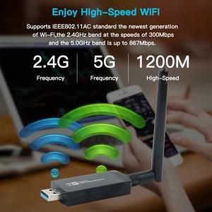 Image 2 - Dual Band 1200Mbps USB RTL8812AUไร้สายAC1200 USB Wifi Lan Adapter Dongle 802.11acพร้อมเสาอากาศสำหรับแล็ปท็อปเดสก์ท็อป