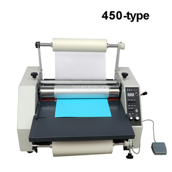 44cm Width A3 A4 Film Laminating Machine Photo Album Paper Single/Double Side Steel Roller Automatic Cold/Hot Laminator 450-type