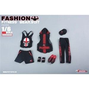 """Image 5 - Fire Girl ของเล่น 1/6 FG055 1/6 ชายฟิตเนสสวมใส่ชุดกีฬากางเกงเสื้อผ้าสำหรับ 12 """"TBLeague M33 M34 m35 Action Figures"""
