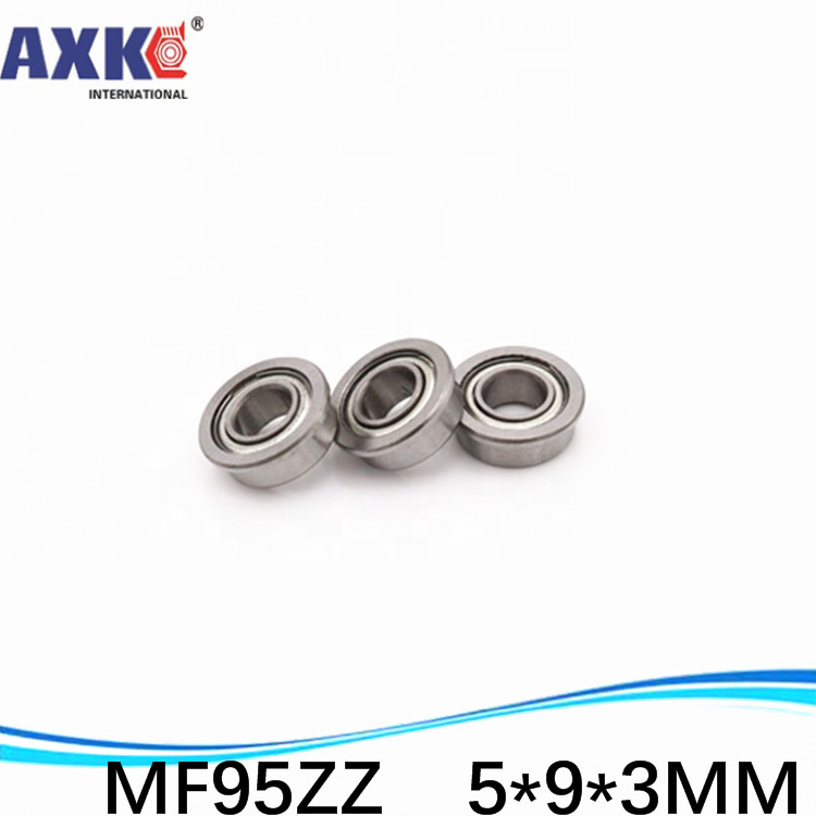 20pcs Free Shipping SUS440C environmental corrosion resistant flanged stainless steel bearings SMF95ZZ 5*9*10.2*3*0.6 mm