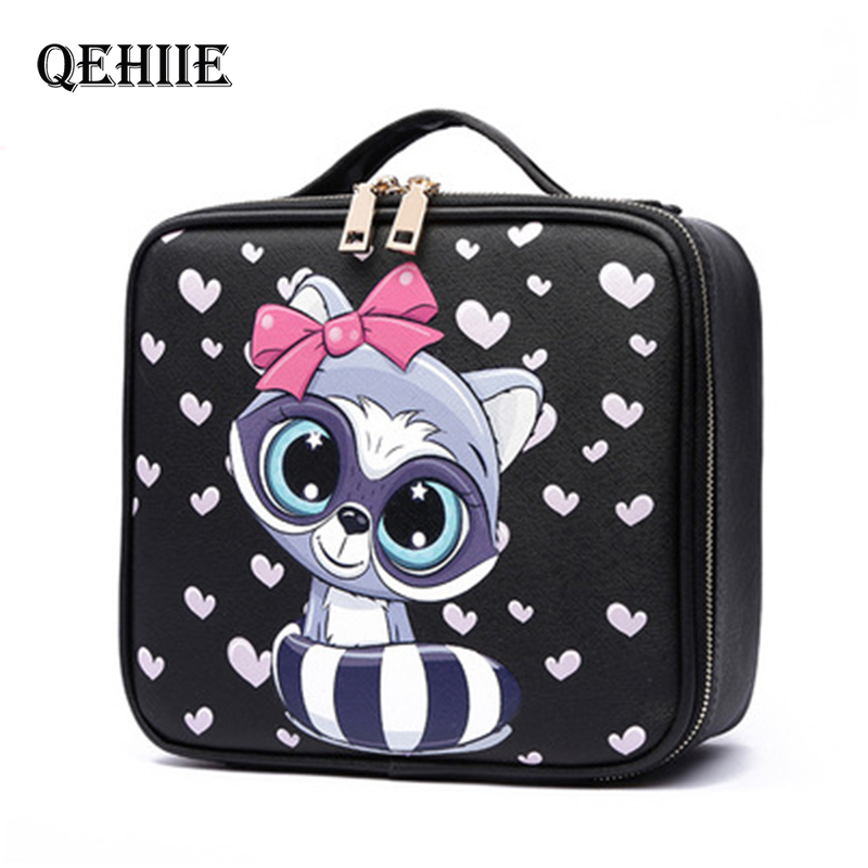 New 2019 High Quality Professional Empty Makeup Organizer Bolso Mujer Cosmetic Case Travel Large Capacity Storage Bag Suitcases