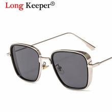 Long Keeper Steampunk Sunglasses Men Coating Retro Vintage Designer Sun glasses Iron Man Tony Stark Oculos Masculino Gafas de