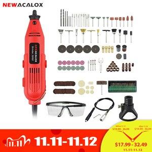 Image 1 - NEWACALOX EU/UNS 220V 260W Mini Elektrische Drill Variable Speed Grinder Schleifen Maschine Gravur Zubehör Dremel Rotary werkzeuge