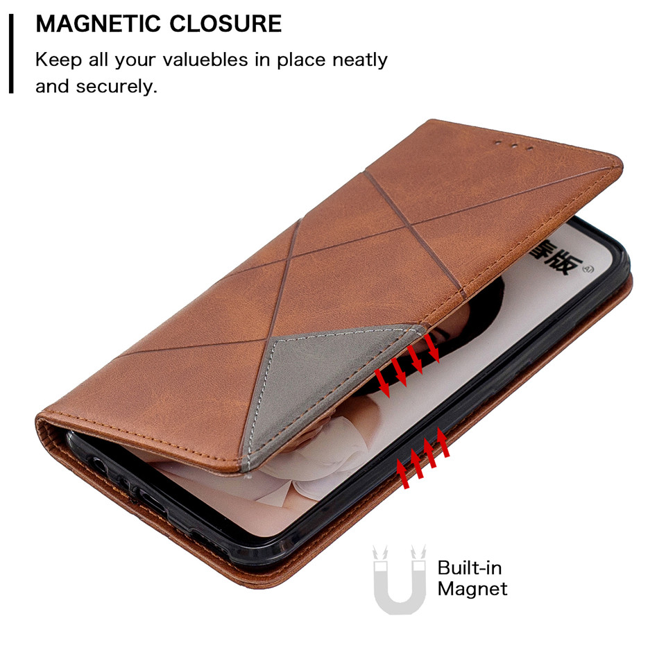 Hf671b8d782b248e69ed2c25f8f08b10fv For Huawei Honor 10 Lite Case Leather Wallet Flip Cover Soft Silicone Case for Honor 10i 9X 8A 8S Magnetic Case Card Holder