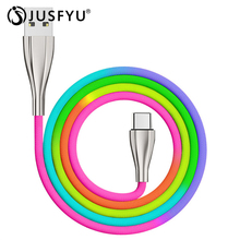 JUSFYU USB Type C Cable for iPhone 6 7 8 X XS MAX Charger Fast Charging Micro xiaomi redmi note pro Word