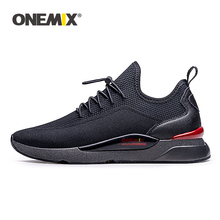 ONEMIX Sneakers Men's Breathable Mesh Outdoor Sport Shoes Air Cushion Flats Training Athletic Male Slip On Jogging Running Shoes