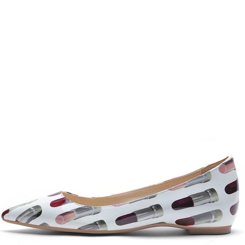 YECHNE Streep Women Punch Shoes Flats Women Platform Shoes Fashion Lent Herf Deep Platform Ballet Shoes Plus Size