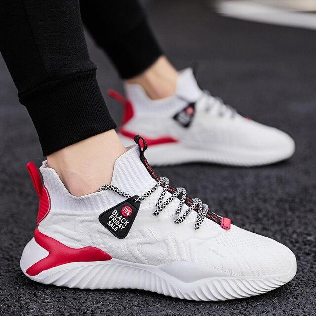 Zapatos informales De malla De moda para Hombre, zapatillas ligeras y transpirables para correr y trotar 2