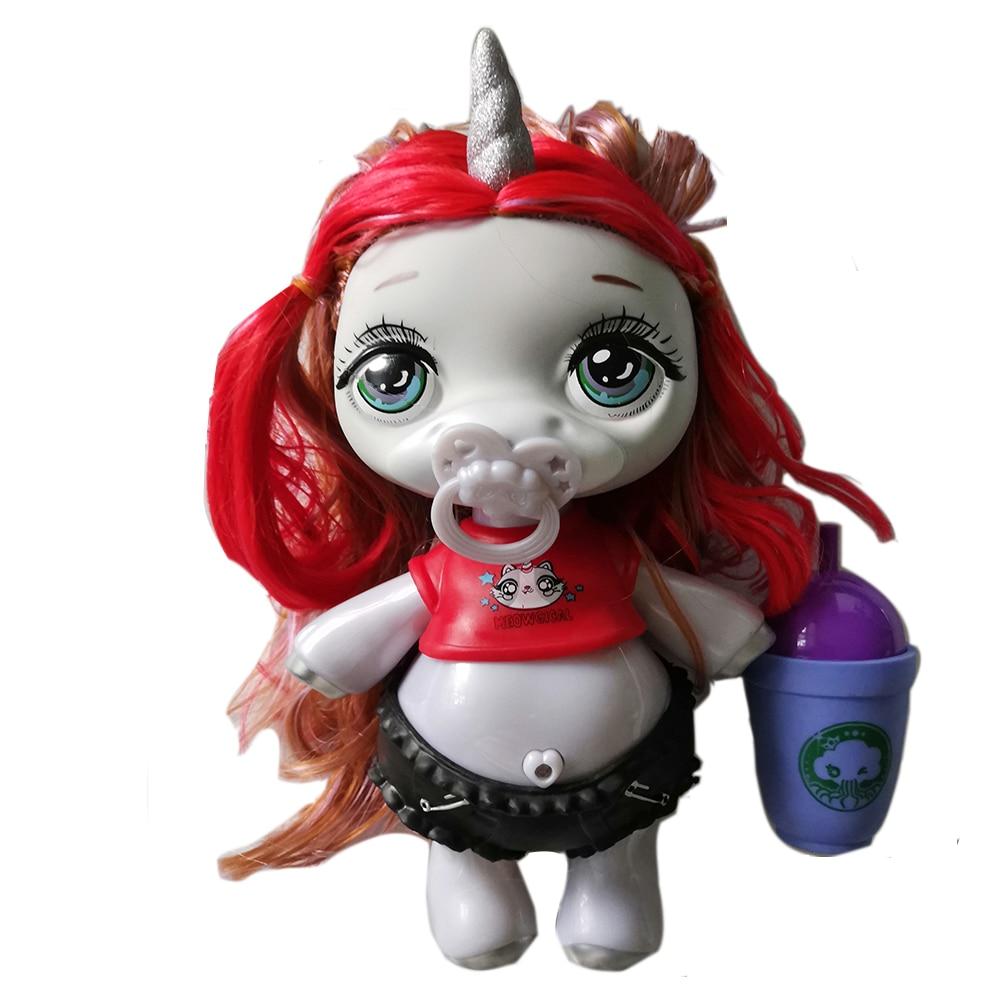 Poopsie Baba gran unicornio bola muñecas caca juguetes de las niñas, accesorios Arco Iris estrella brillante muñeca Juguete de maquillaje para chico, juego de maquillaje para chico, juego de maquillaje seguro y no tóxico, juguete para niñas, bolsa de viaje, bolsa de belleza