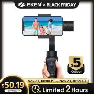 Image 1 - EKEN S5B 3 ציר gimbal כף יד מייצב נייד וידאו שיא Smartphone Gimbal עבור טלפון פעולה מצלמה VS H4