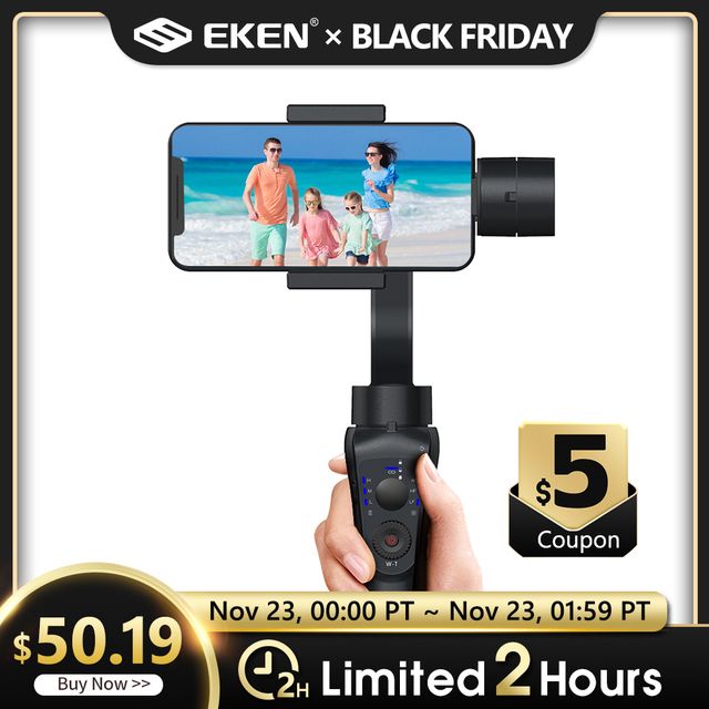 EKEN S5B 3 ציר gimbal כף יד מייצב נייד וידאו שיא Smartphone Gimbal עבור טלפון פעולה מצלמה VS H4