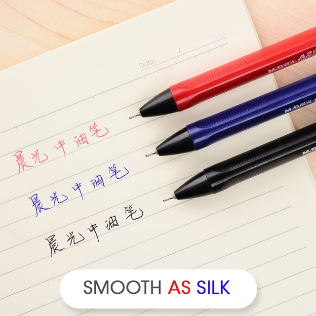 Фото супергладкая масляная шариковая ручка m & g 07 мм нержавеющая цена