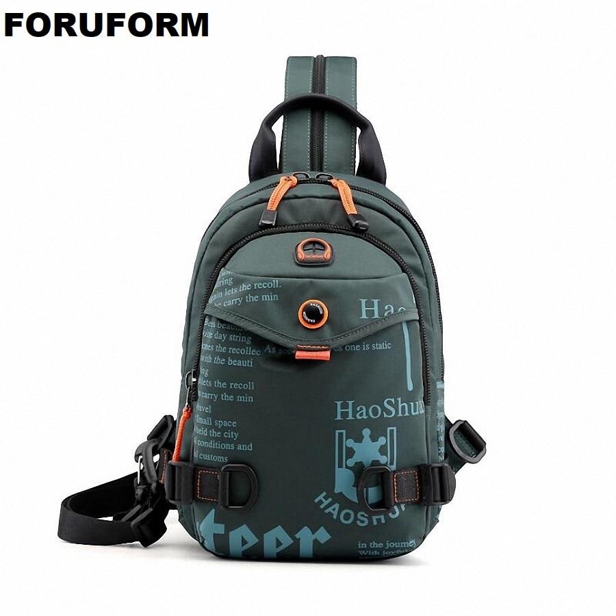 Fashion Printing Mens Waterproof Nylon Small Chest Bag Pack Travel Sport Shoulder Sling Backpack Crossbody Bags