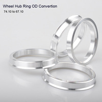 4pcs Wheel Hub Center Rings Aluminum Alloy Centric Hub Ring OD 74.1MM to ID 67.1MM|Wheel Hubs & Bearings| |  -