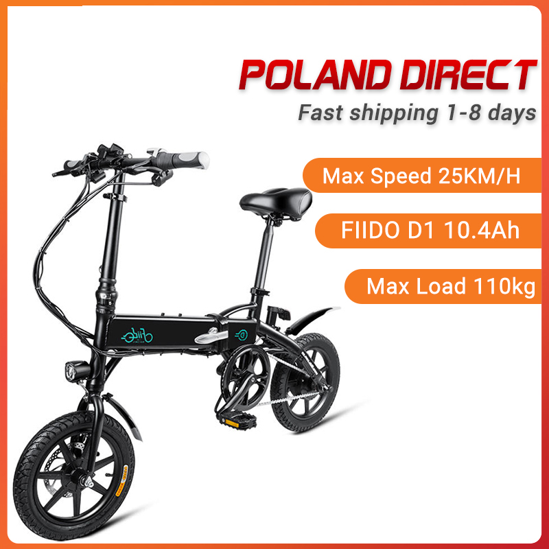 [EU Direct] FIIDO D1 10.4Ah 36V 250W Electric Bicycle 14 Inches Folding Moped Bicycle 25km/h Max 60KM Mileage Electric Bike