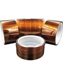 1 шт. 30 м клейкая лента высокотемпературная термостойкая полиимидная лента 250-280 градусов для электронной промышленности