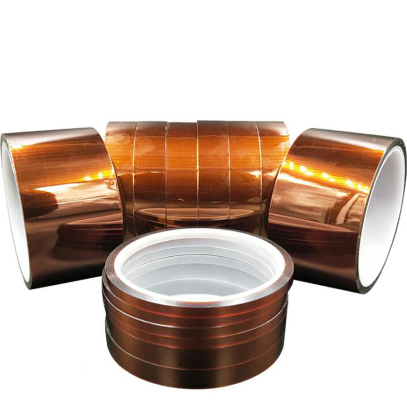 1pcs 30M Adhesive Tape High Temperature Heat Resistant Polyimide Tape 250-280 Degree For Electronic Industry