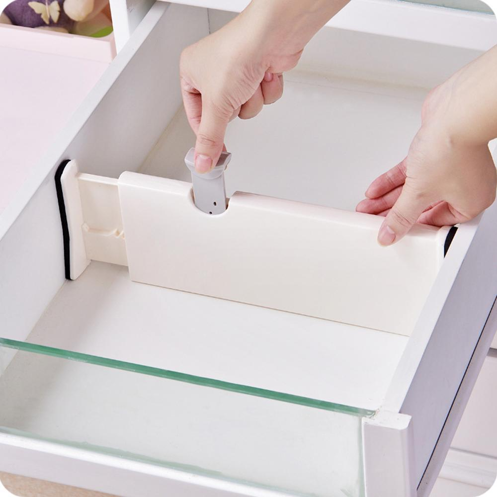 Retractable Adjustable Stretch Drawer Divider Organizer Storage ABS Plastic Cabinet Drawer Separator Divider Grid For Household
