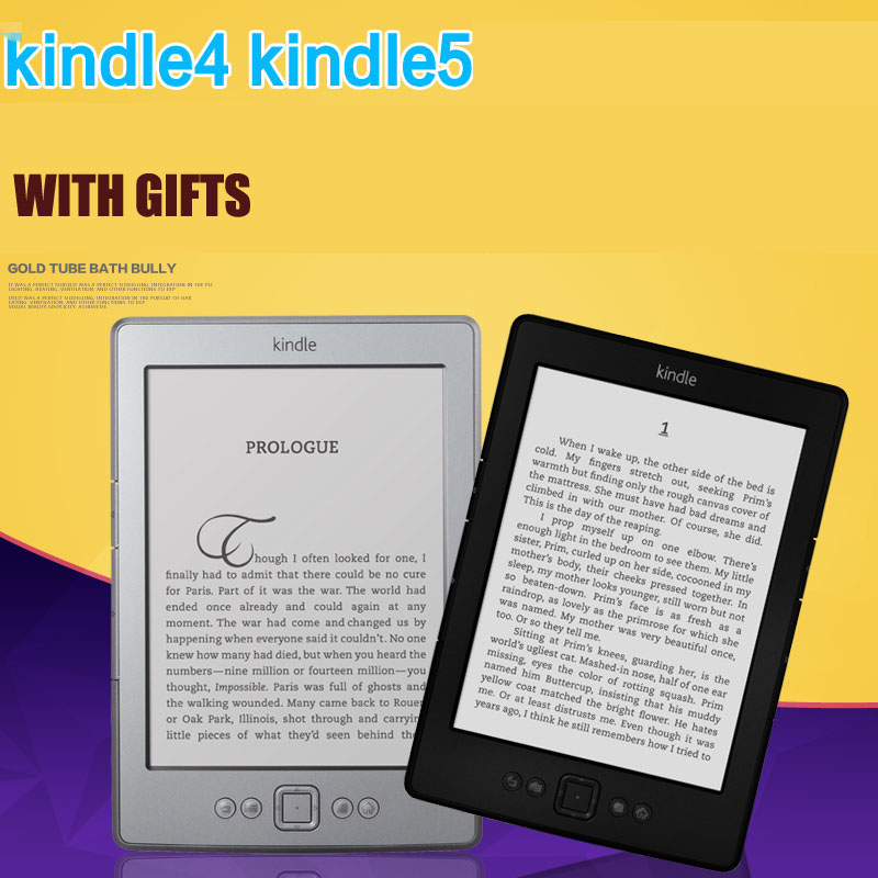 Cheap Kindle 5 e-book with gift e-ink Display 6 inch Ebook Reader Electronic e book Gray Ereader 2GB Refurbished Great Condition