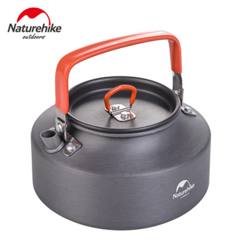 Naturehike 1100ML 1600ML Mini Outdoor Camping Cookware Portable Water Kettle Teapot Camping Picnic Tableware Hard Alumina Kettle