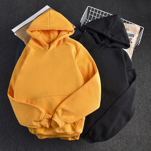 Ailegogo Casual Solid Hooded Hoodies Women Long Sleeve Plus Size Sweatshirts Autumn Pullover Pure Fashion Tops Sudaderas 1