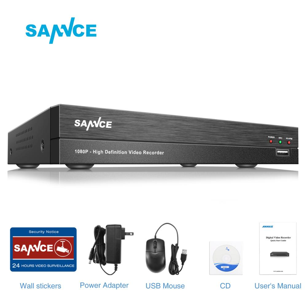 SANNCE Clearance 4CH 5IN1 1080P CCTV DVR Digital Video Recorder Home Security Surveillance System H.264 HDMI P2P Remote Access