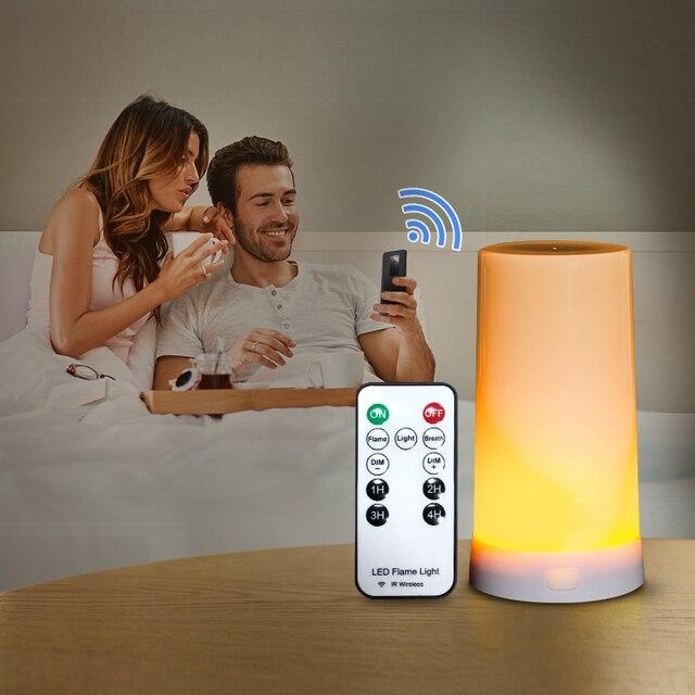 Luce da Notte Portatile USB Magnetico Sensore di Gravità Fiamma Lampade con Telecomando IR Per La Camera Da Letto Del Partito di Camp Fiamma di Notte luce 2