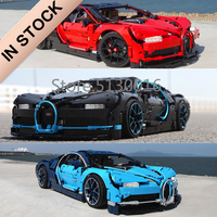 20086 In Stock Supercar Bugattis Blue\Red\Black Technic 42083 3625Pcs Chiron Car Model Building Blocks Bricks Toys