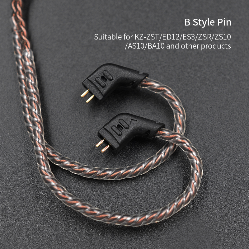 lowest price KZ ZST ZSN ZS10 pro ZS3 ZS6 AS16 AS12 ZSN Pro Headphones With Micrphone cable 2PIN pin upgrade cable Earphone wire with mic