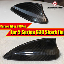 For BMW 5 Series G30 520i 525i 528i 530i 550i Car Roof Antenna Shark Fin Carbon Fiber Style Accessories Cover 2018+